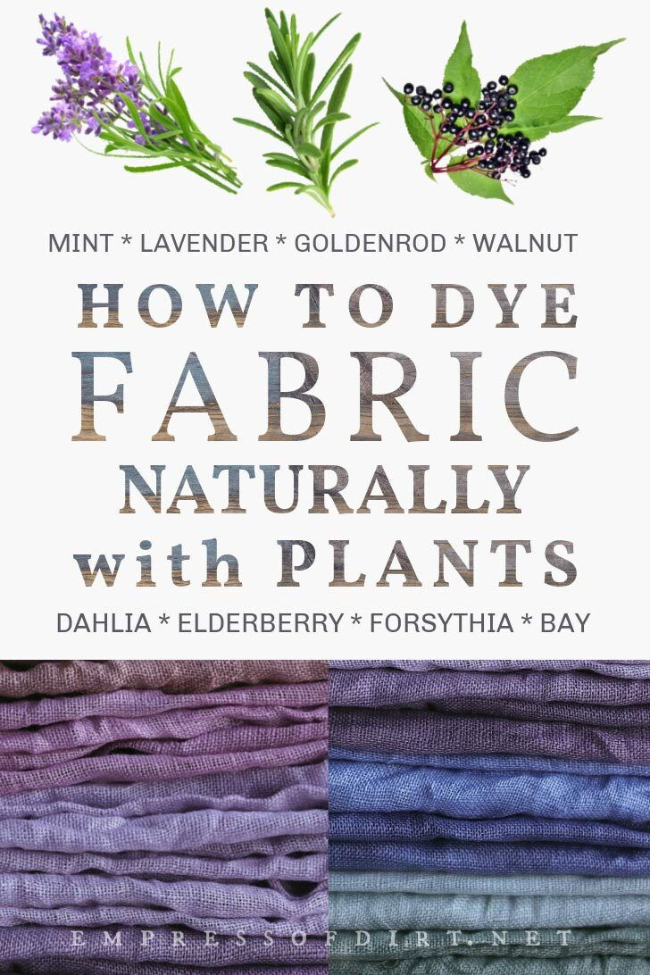 How To Dye Fabric Using Plants From Your Garden