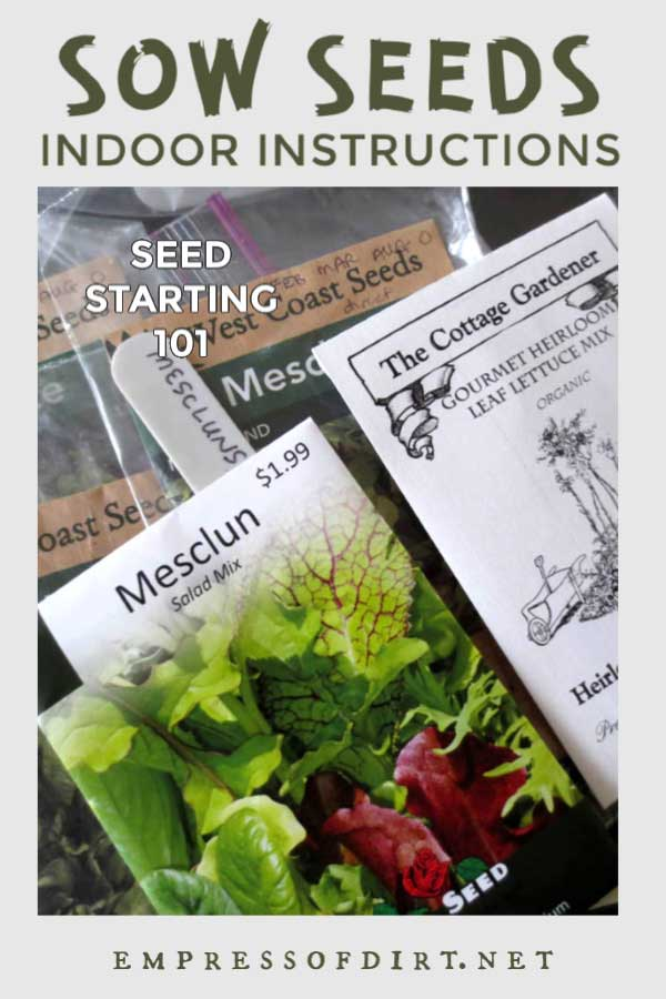 Seed packets and plant tags.