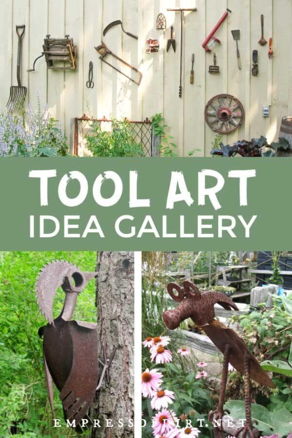 Turn Old Tools into Garden Art (20 Ideas)