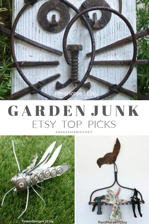 28 Charming Recycled Garden Junk Ideas