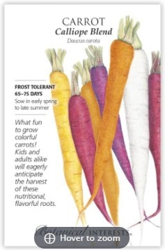Rainbow carrot seeds by Botanical Interests