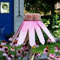 Garden art coneflower.