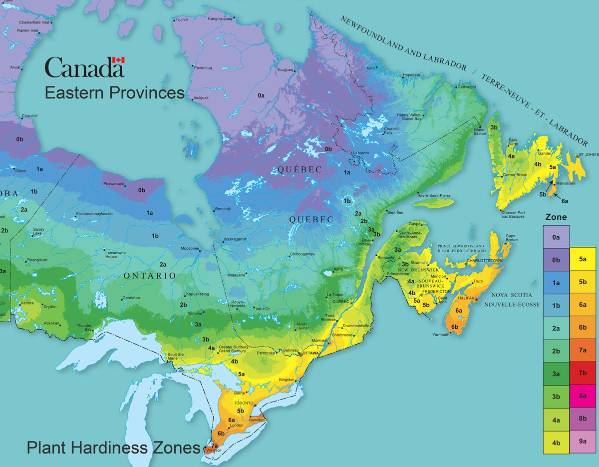Map Of Canada Eastern Provinces.How To Find Your Canadian Plant Hardiness Zone Empress Of Dirt