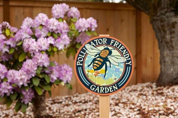 Pollinator friendly garden sign