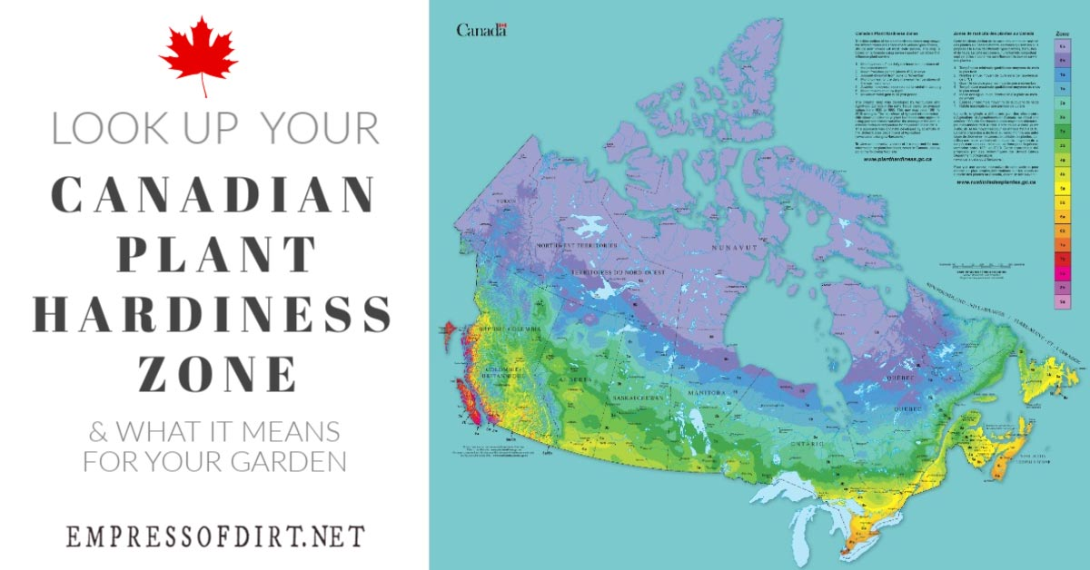 Hardy Zone Map Canada How to Find Your Canadian Plant Hardiness Zone | Empress of Dirt