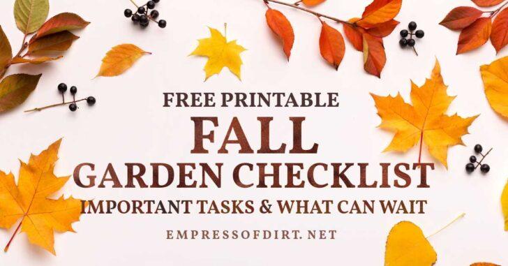 Empress of Dirt Fall Gardening Checklist