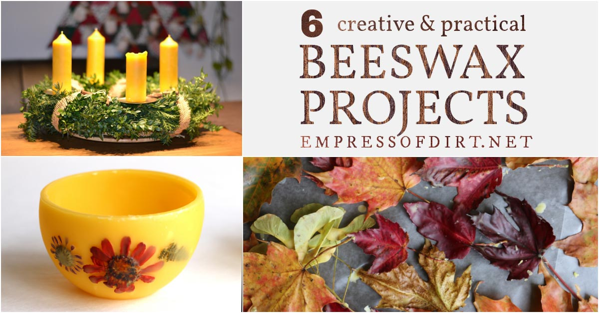 Creative projects made from pure beeswax.