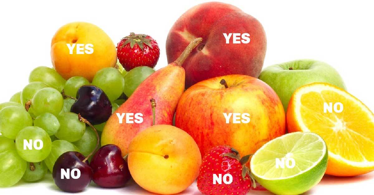 Fruits labelled according to ripening times.