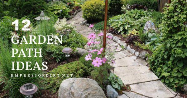 Stone pathway in a garden.