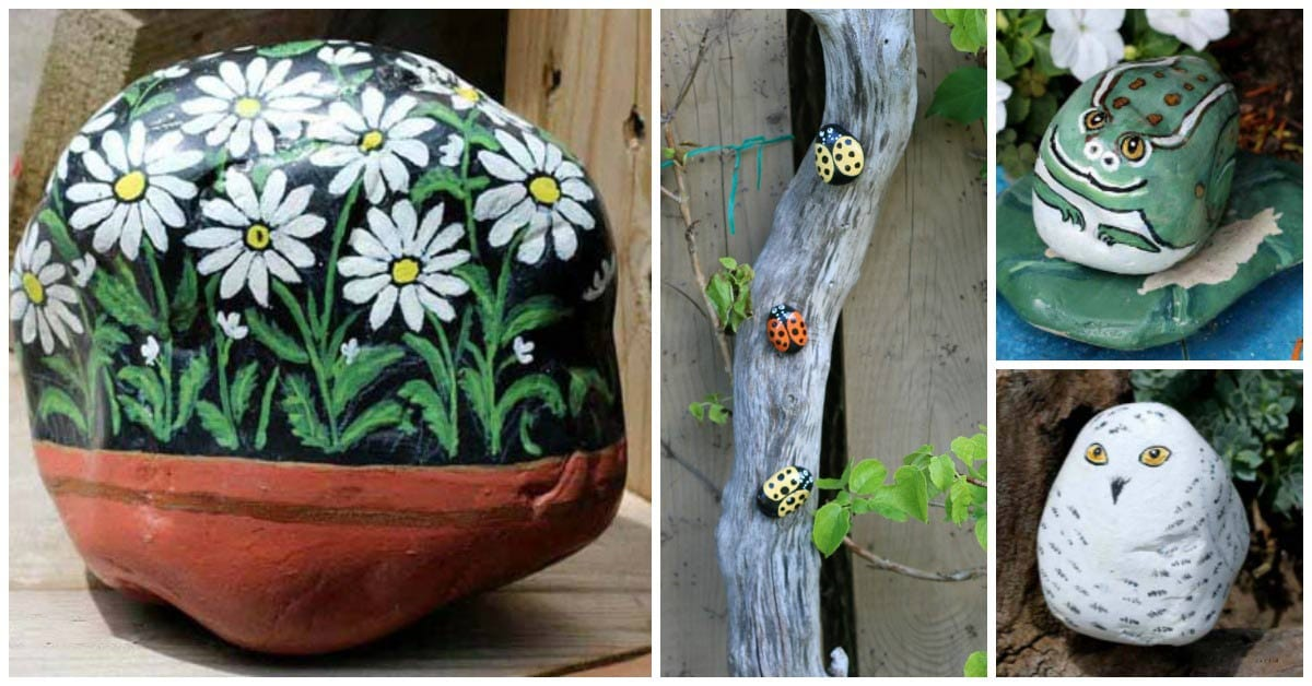 How To Hand Paint Garden Art Rocks And Stones Empress Of