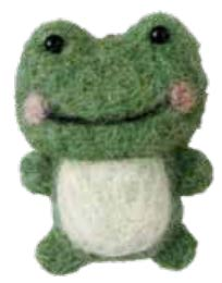 Needle-felted frog