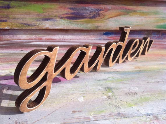 GARDEN sign by SunFla on Etsy