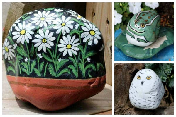 How to Hand-Paint Garden Art Rocks and Stones