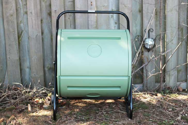 Compost tumbler bin.
