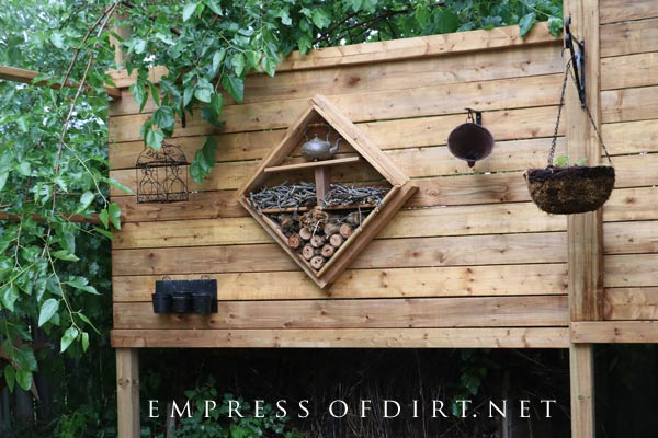 Diy Outdoor Privacy Screen With Bug Hotel Empress Of Dirt