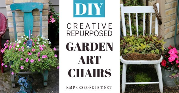 Gallery Of Garden Art Chair Ideas Empress Dirt
