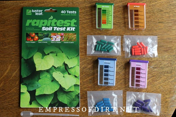 Rapitest home soil testing kit.
