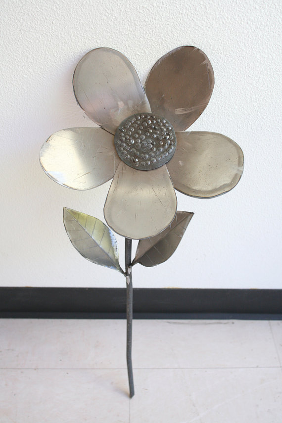 Raw Metal Flower | hiSIS on Etsy