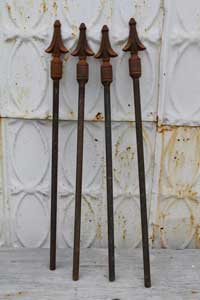 Rusty iron hose guards