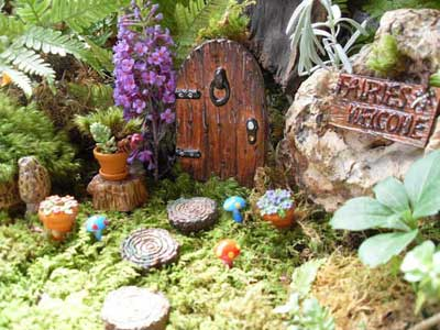 Fairy garden door by LaurelsFairyDoors on Etsy