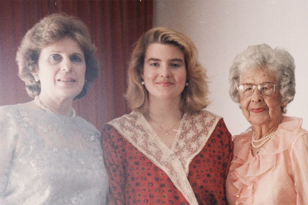 Melissa with her mother and grandmother