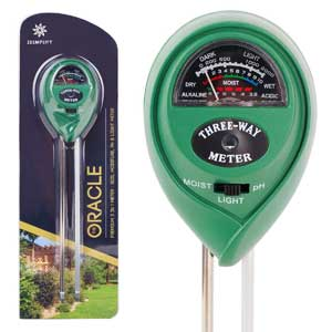 Moisture meter for check the moisture, pH, and light levels for indoor and outdoor plants.