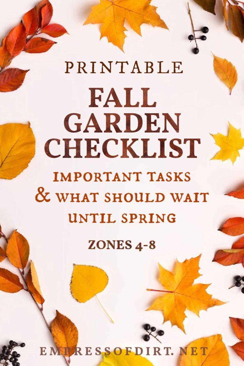 Fall Garden Checklist