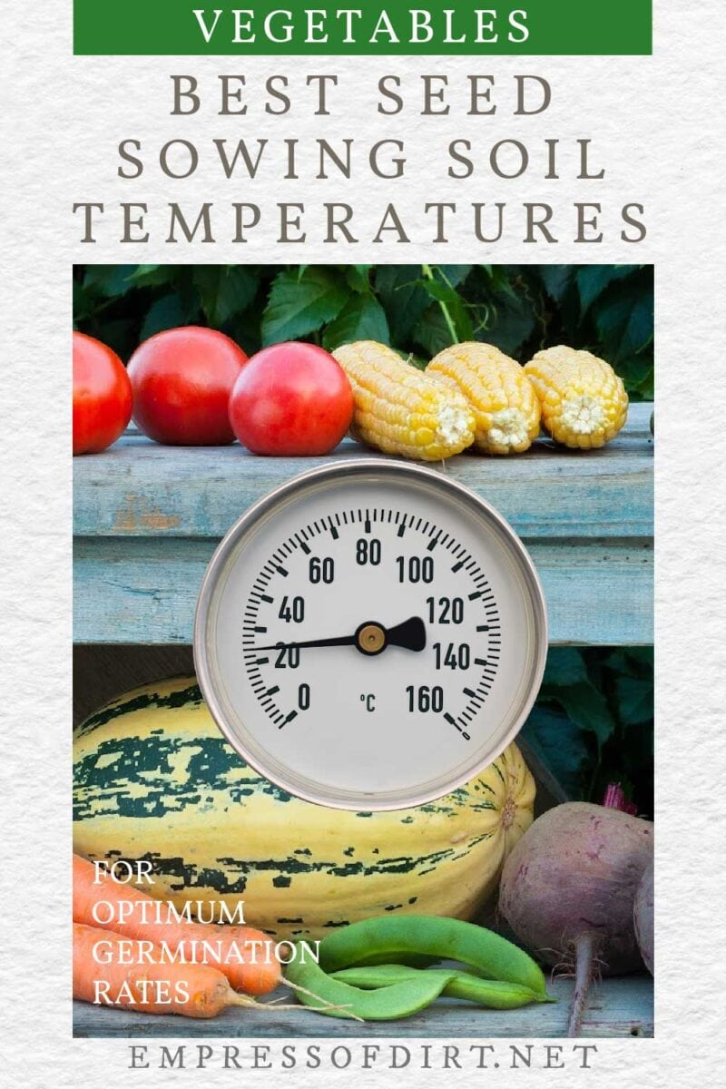 Vegetables grown from seeds started at optimum temperatures.
