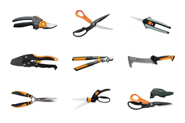 A selection of pruning tools for the garden.