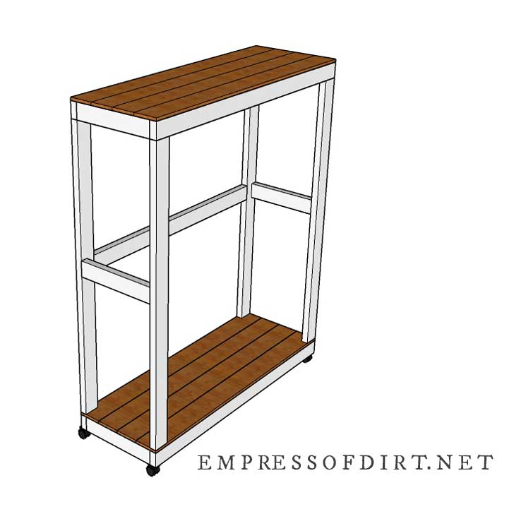 Building plan for portable garden tool storage shed