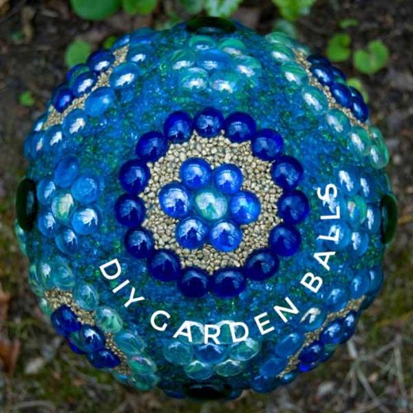 DIY garden art balls.