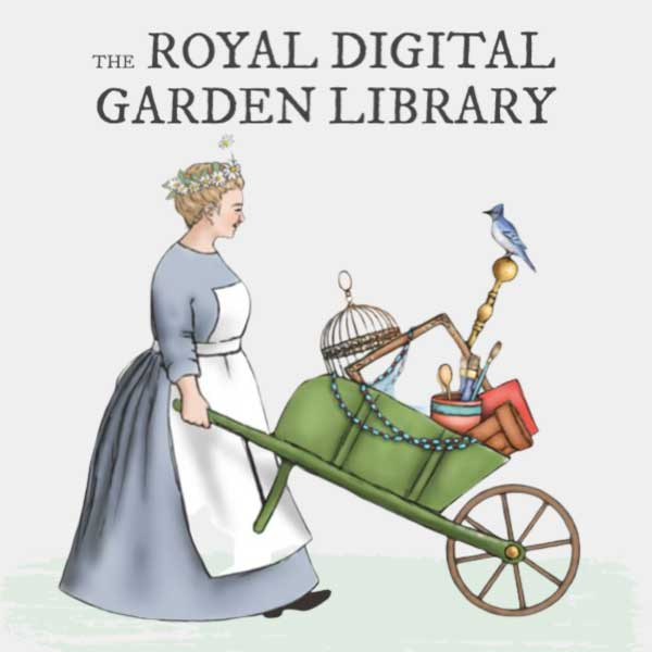 Logo for the Royal Digital Garden Library at Empress of Dirt.