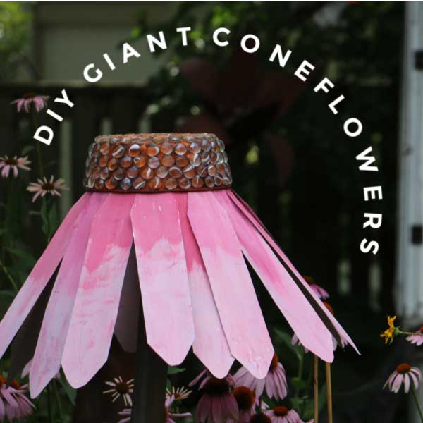 Giant garden art coneflower.