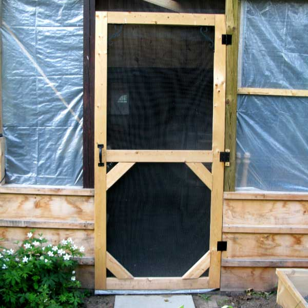 Make a Custom Size Garden Screen Door