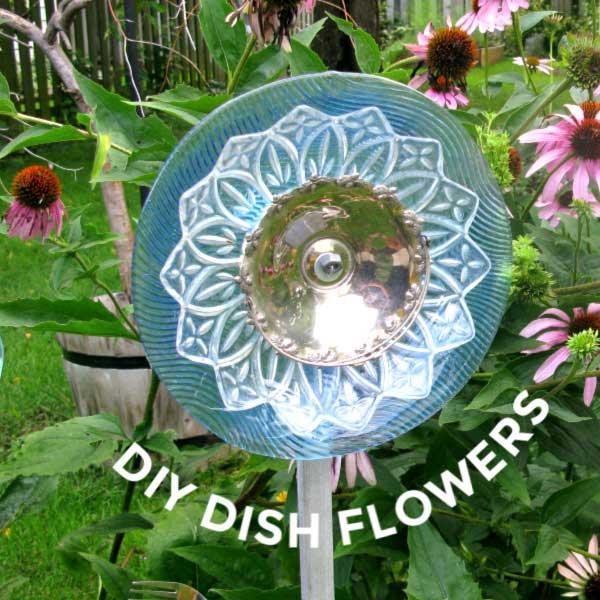 Dish flowers.