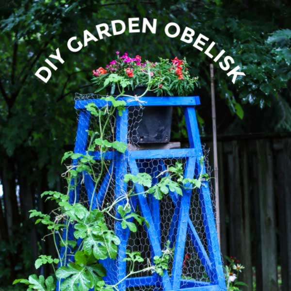 How To Build A Wooden Garden Obelisk Step By Step
