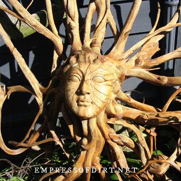 Carved sunface art.