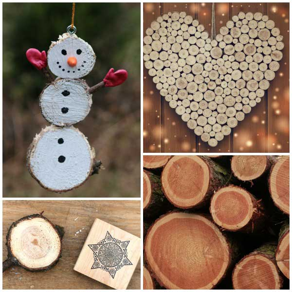 Creative uses for wood from old Christmas trees.