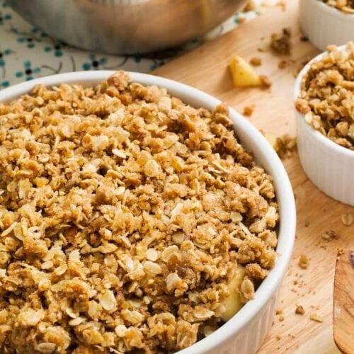 Homemade granola in a bowl.