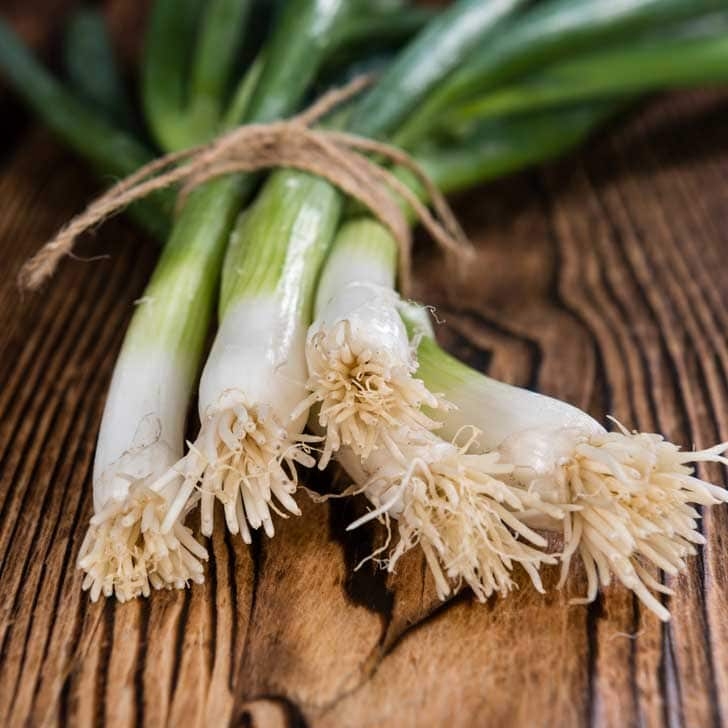 Onion greens scallions