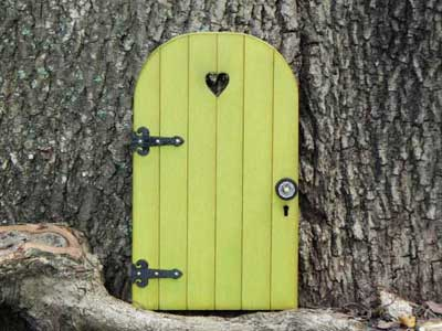 Fairy garden door by TheLittleHedgerow on Etsy