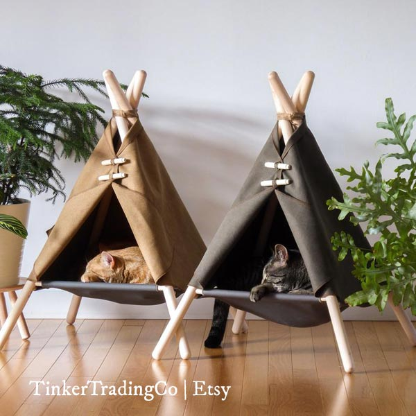 Cat tent by TinkerTradingCo on Etsy
