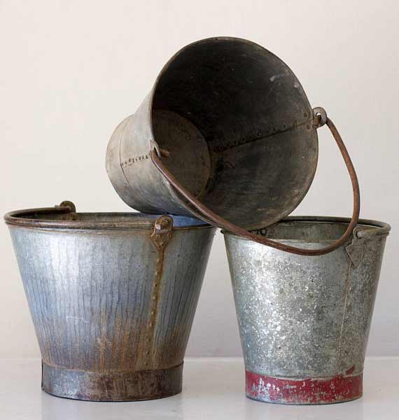 Vintage farm pails - ChaseVintage Etsy Shop