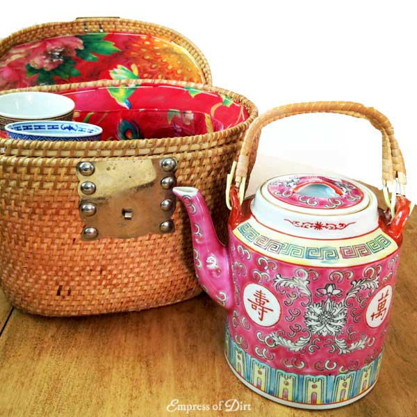 Keep your teapot warm with a tea basket or teapot warmer