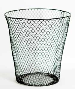 Vinyl-coated mesh basket from a dollar store.